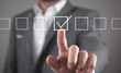 Man with checkbox. Your Choice. Business concept