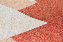 Texture Of Pebble Stones Red And Black Quartz Floor - Quartz Sand Texture