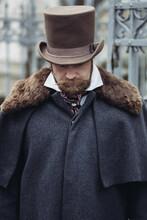 Elegant Man Of The Nineteenth Century. Vintage.