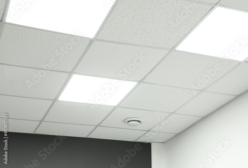 Tableau sur Toile White ceiling with lighting in office room