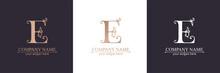 Premium Vector E Logo. Monnogram, Lettering. Personal Logo Or Sign For Branding An Elite Company. Vector Design.