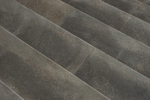 Background Of Gray Concrete Granite Stairs, Top View. Selective Focus