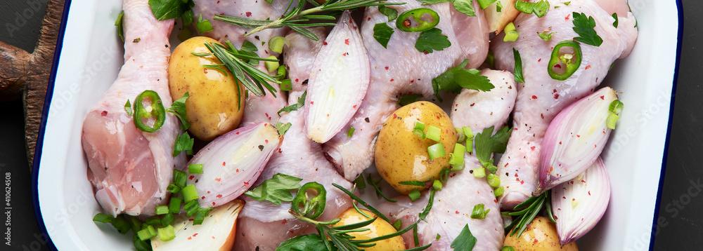 Fototapeta Raw chicken meat