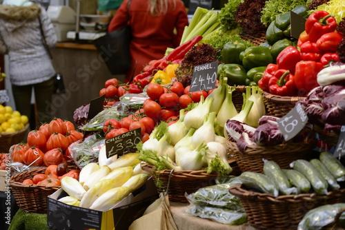 vegetables on market stall © Iliya Mitskavets