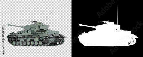 Obraz na plátně Tank isolated on background with mask