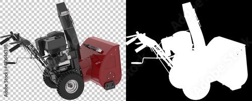 Fotografia, Obraz Gardening machinery isolated on background with mask