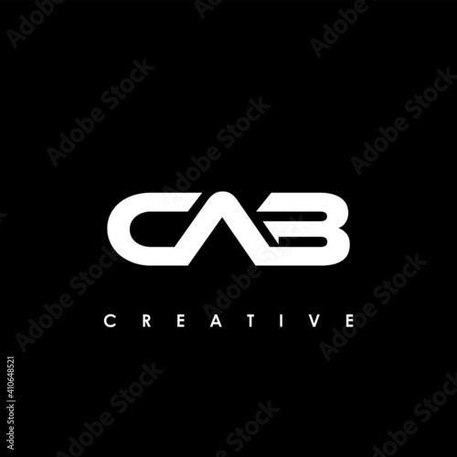 Leinwand Poster CAB Letter Initial Logo Design Template Vector Illustration
