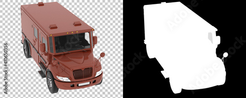 Fotomural Armored truck isolated on background with mask