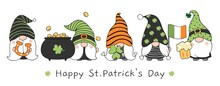 Draw Banner Gnomes For St Patrick's Day
