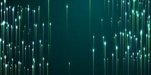 Upward Vertical Line Beams Fiber Optics Concept.