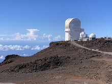 Beautiful Shot Of The Observatory At Haleakala, The East Maui Volcano In Hawaiian Island Of Maui.