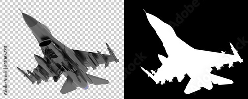 Papel de parede Jet fighter isolated on background with mask