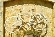 Antique Bicycle In Crete