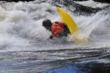 Whitewater Kayaking In The River