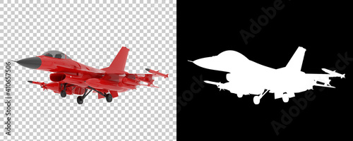 Jet fighter isolated on background with mask Fototapet