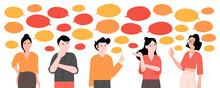 We Want Your Feedback Survey Opinion Service Vector Illustration Cartoon Flat Design Modern Style