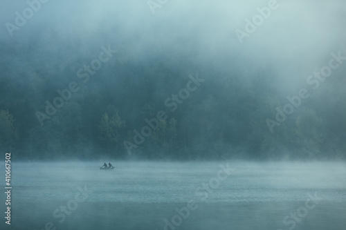 Fotografie, Obraz Lake in the fog
