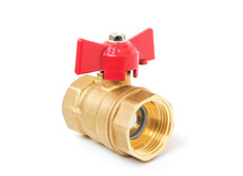 A Ball Valve Isolated On White Background
