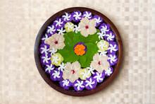 Ornately Decorated Exotic Flower Bowl, Close-up.