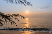 Morning At The Beach In Southern Thailand.