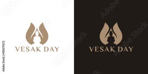 Fotografía Happy Vesak Day Or Buddha Purnima logo design