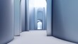Architecture interior background empty arched pass 3d render