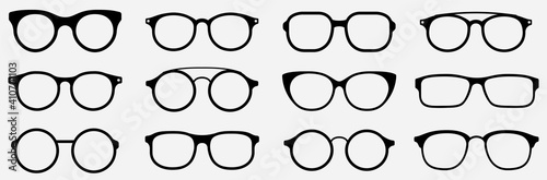 Photo Glasses icon concept