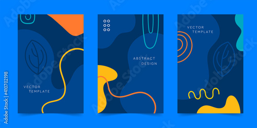 Obraz A dynamic trendy pattern of poster design. Abstract creative graphic design. Vector, Illustration - fototapety do salonu