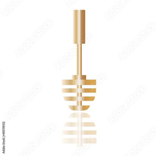 Photo Golden toilet brush