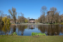 Pond At The Oosterpark Park In Spring At Amsterdam The Netherlands 6-4-2020