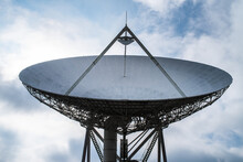 Satellite Antenna Dish For Communication And Signal Reception Out Of The Planet Earth.