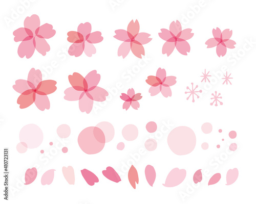 春の桜ベクターセット Cherry blossom illustration for spring Fototapet