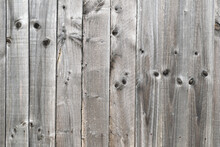 Timber Fence With Vertical Timber Planks  & Textured Surface