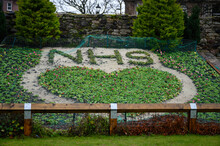 Support The NHS Flower Design In Lodge Gardens North Berwick Scotland