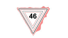 Number 46 In Triangle, Black Background