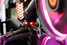 Close-up Of Illuminated Control Panel