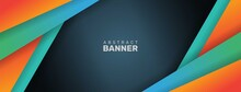 Abstract Sports Style Banner With Geometric Shapes. - Vector.