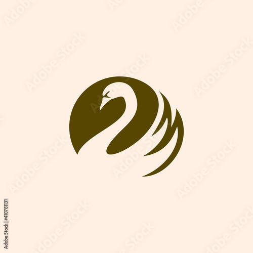 Fotografie, Obraz simple swan logo vector