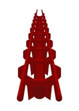 Roller Coaster Track. Simple Flat Illustration