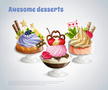 Awesome Desserts Composition