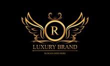 Luxury Gold, Royal Brand, Monogram Luxury Log