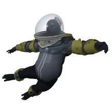 3d Render Of A Gorilla In A Spacesuit