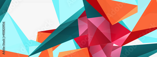 Fotografie, Obraz 3d mosaic abstract backgrounds, low poly shape geometric design