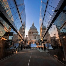 Low Angle View Of St Paul Cathedral In City Against Sky