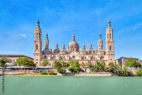 Obraz na plátně Zaragoza, Spain