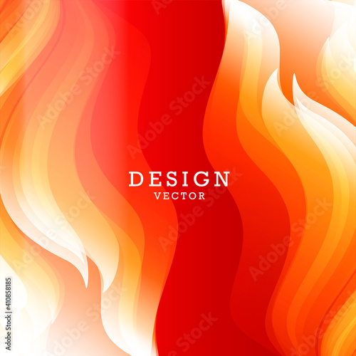 Fototapeta Abstract background for design with bright graphic element of fire flames on bot