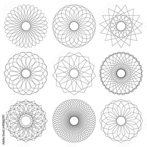 Obraz na plátně Geometric Mandala Vector Collection