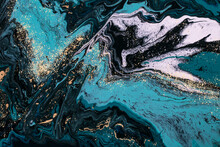 Blue Lagoon - ABSTRACT ART. Beautiful Marble Effect. Luxury And Natural.