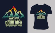 Hiking T-shirt Designs.