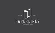Paper Line Roll Simple Logo Vector Icon Symbol Graphic Design Illustration
